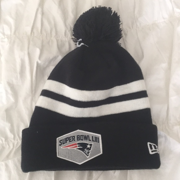 Super Bowl Liii Patriots Puff Ball Hat